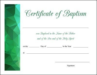 Certificate Of Baptism Template Free Printable Baptism First Munion and Confirmation
