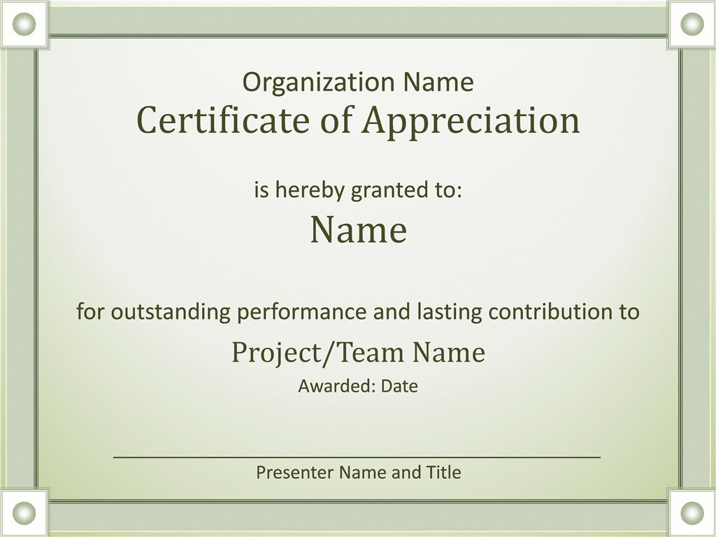 Certificates fice