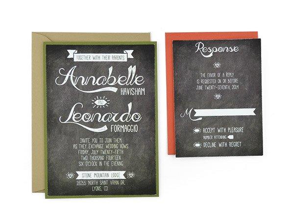 Chalkboard Invitation Template Free 19 Free Wedding Invitations Fully Editable
