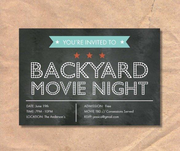 Chalkboard Invitation Template Free Chalkboard Invitation Template 43 Free Jpg Psd