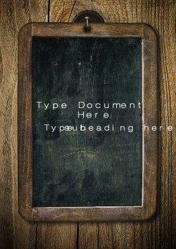 Chalkboard Template Microsoft Word Chalkboard Word Template