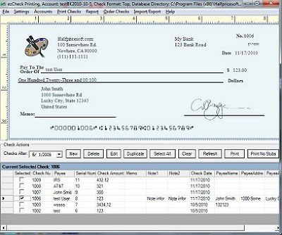 Check Printing Template Excel Blank Check Template