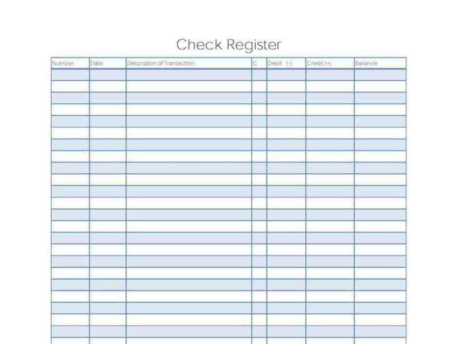 Check Register Template Excel 9 Excel Checkbook Register Templates Excel Templates