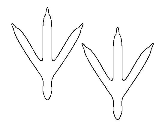 Chicken Feet Template Bird Feet Pattern Use the Printable Outline for Crafts