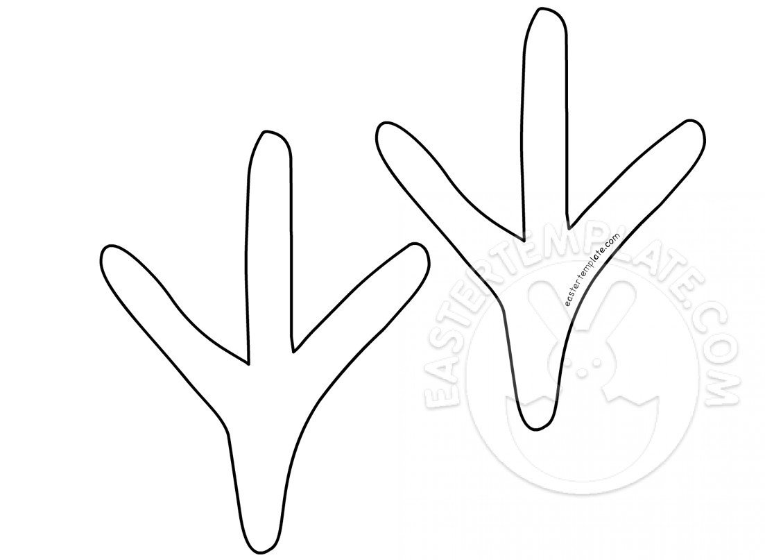 Chicken Feet Template Foot Outline Template Celowithjo