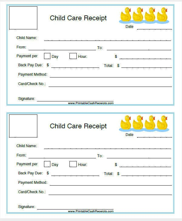 Child Care Receipt Template 7 Daycare Invoice Templates Examples In Word Pdf