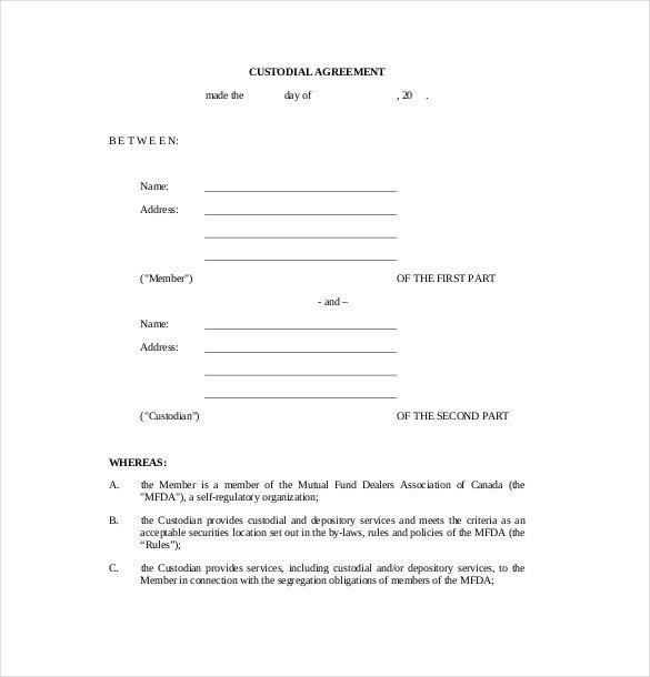 Child Custody Agreements Templates Drug Testing Chain Custody form Template Templates