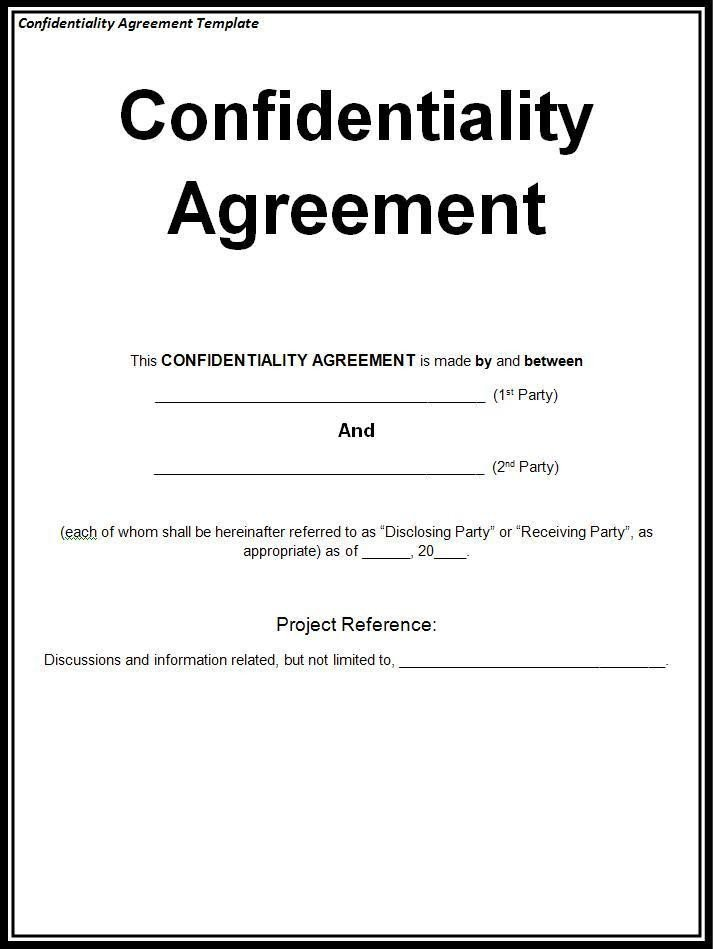 Child Relocation Agreement Template Confidentiality Agreement Template