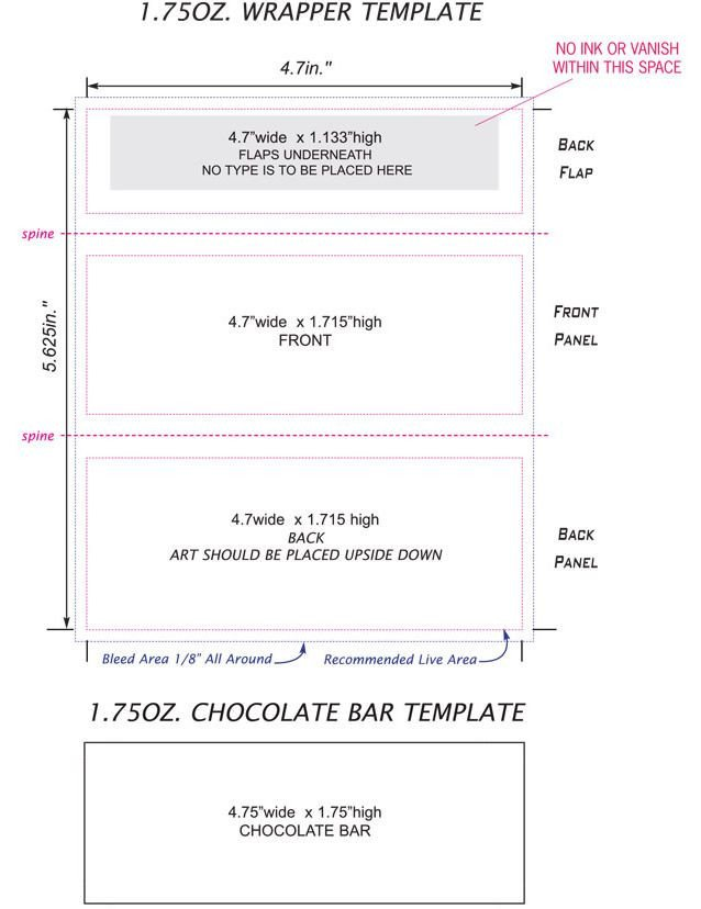 Chocolate Bar Wrapper Templates Candy Bar Wrappers Template Google Search