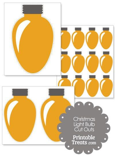 Christmas Light Bulb Cut Outs 1000 Images About Christmas Printables On Pinterest