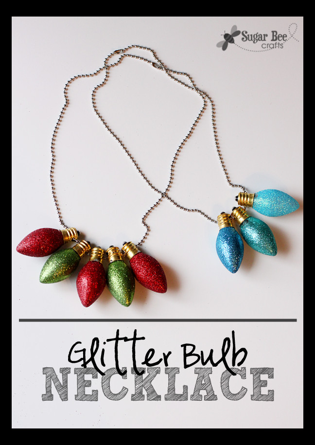 Christmas Light Bulb Cut Outs Glitter Christmas Light Bulb Necklace Sugar Bee Crafts
