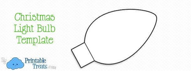 Christmas Light Bulb Cut Outs Printable Christmas Light Bulb Template — Printable Treats