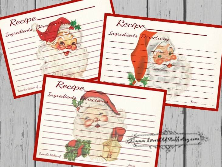 Christmas Recipe Card Set