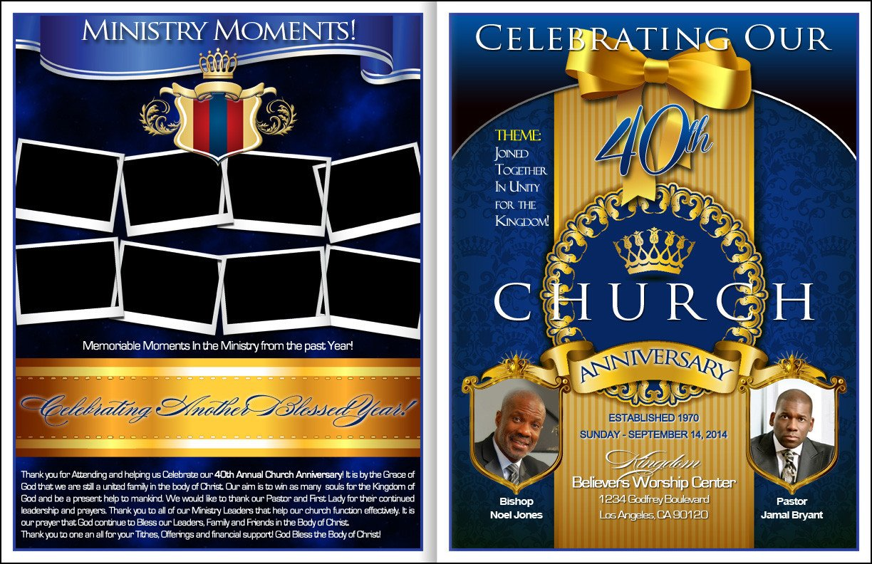 Church Anniversary Program Template 301 Moved Permanently