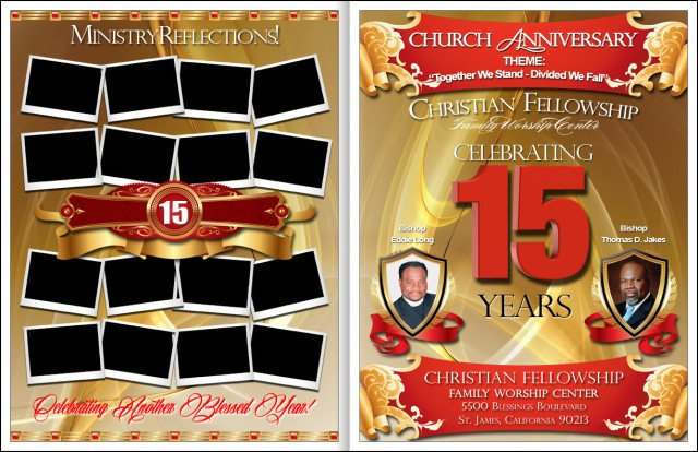 Church Anniversary Program Template Awesome Church Anniversary Program