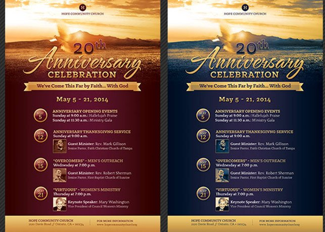 Church Anniversary Program Template Church Anniversary Flyer and Poster Template