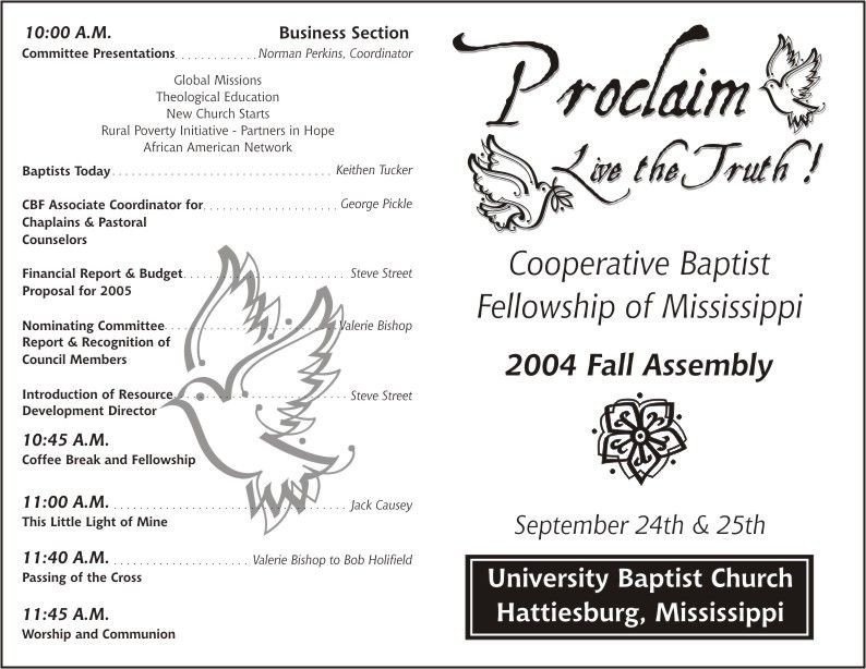 Free Printable Church Program Template