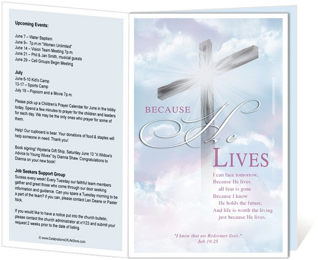 Church Bulletin Templates Word 14 Best Images About Printable Church Bulletins On