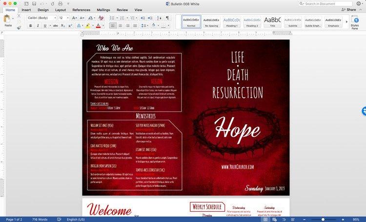 Church Bulletin Templates Word Free Church Bulletin Templates Customize In Microsoft Word