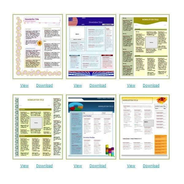 Church Bulletin Templates Word Free Church Newsletter Templates for Microsoft Word