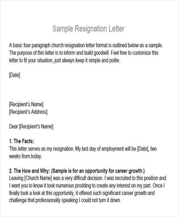 Church Membership Transfer Letter 6 Membership Resignation Letter Samples and Templates