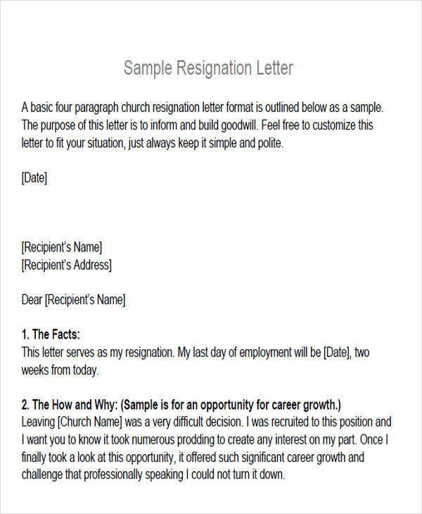 Church Membership withdrawal Letter 6 Membership Resignation Letter Samples and Templates
