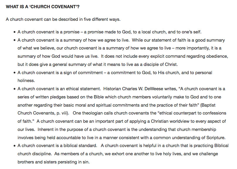 Church Membership withdrawal Letter Church Membership Covenants – Legal Contracts that are Not