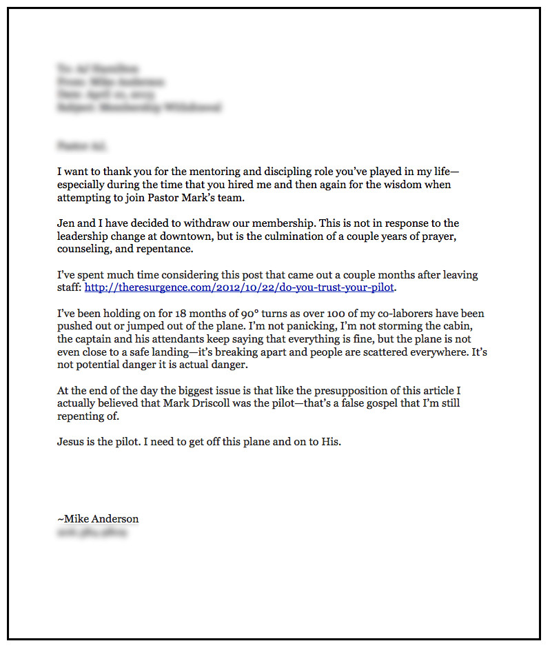 Church Membership withdrawal Letter Church Membership withdrawal Letter – Business form Letter