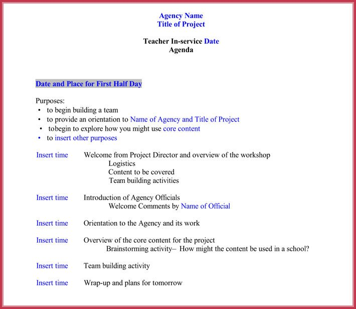 7 Staff Meeting Agenda Templates Samples in Word & PDF