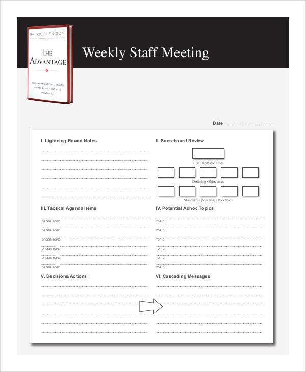Church Staff Meeting Agenda Template Free 57 Meeting Agenda Examples & Samples In Doc