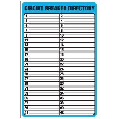 printable circuit breaker panel labels