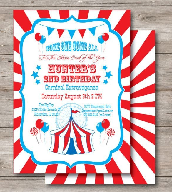 Circus Invitation Template Free 25 Best Ideas About Carnival Birthday Invitations On
