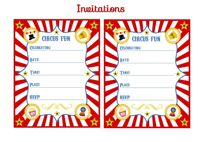 Circus Invitation Template Free Carnival Tickets Template Free Printable