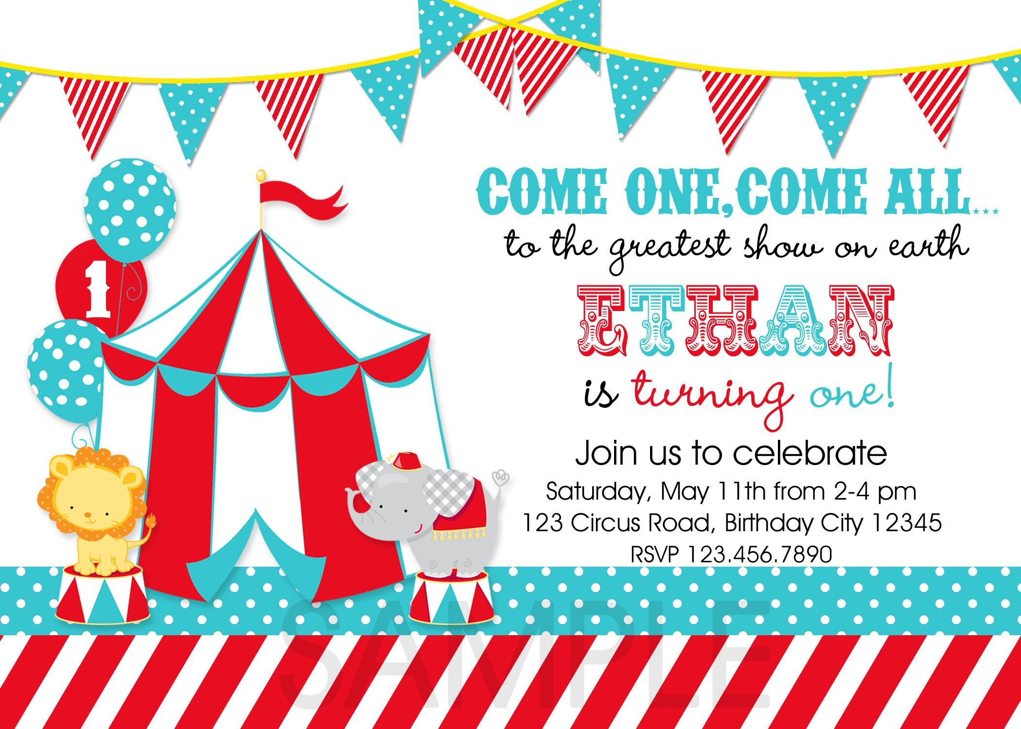 Circus Invitation Template Free Circus Party Invitations Template 3zcfy9xw