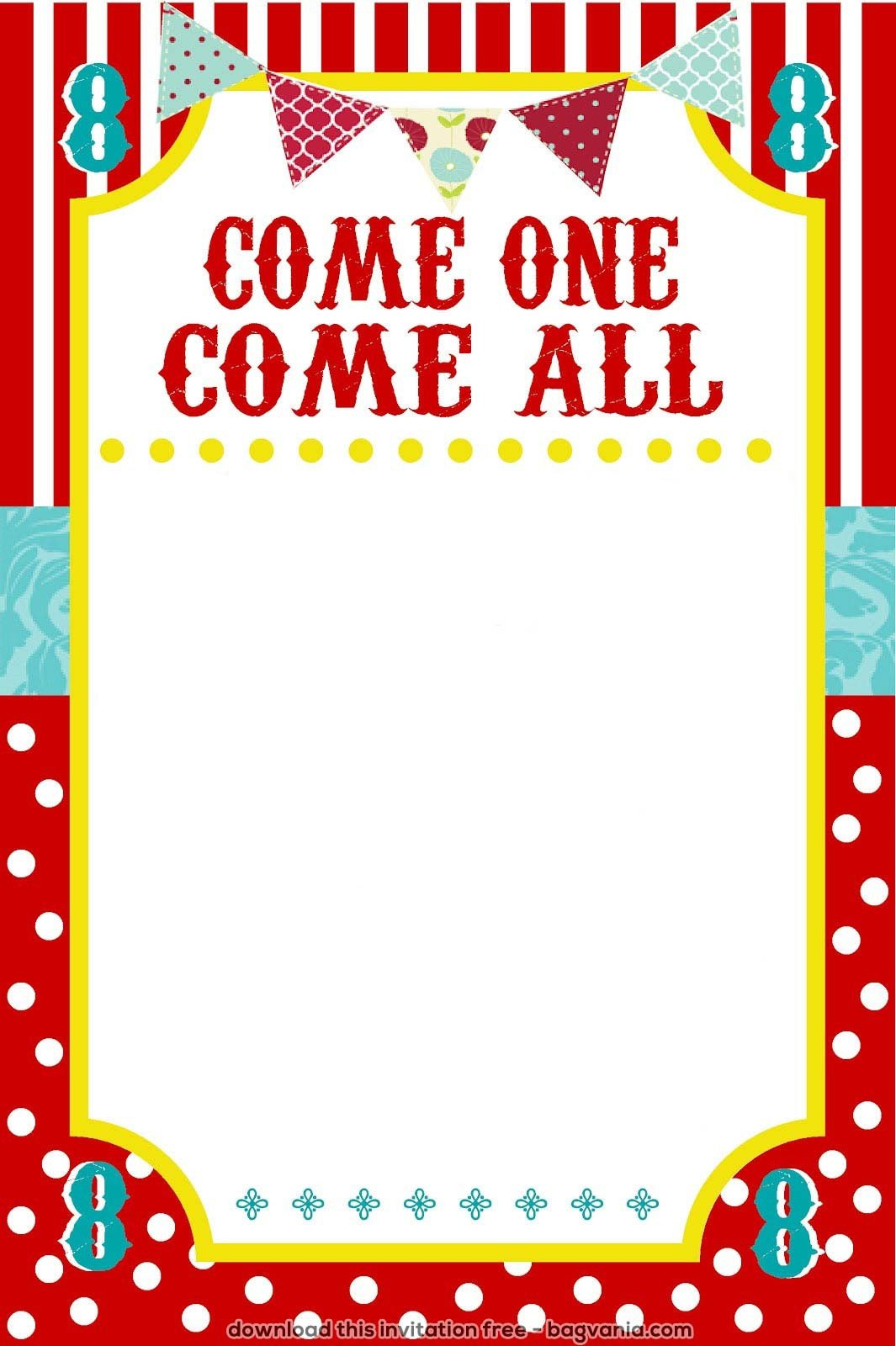 Circus Invitation Template Free Free Carnival Birthday Invitations – Free Printable