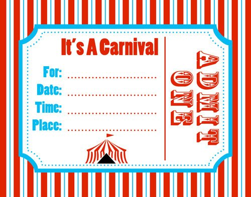Circus Invitation Template Free Free Carnival Ticket Template Download Free Clip Art