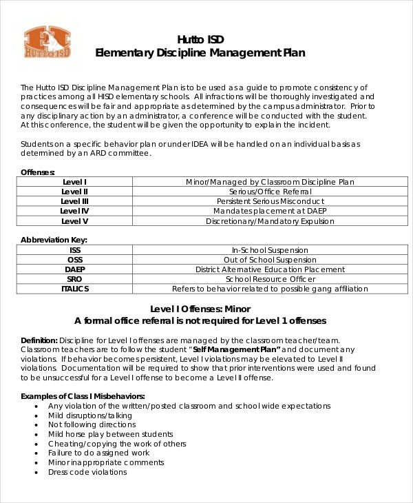 11 Classroom Management Plan Templates Free PDF Word