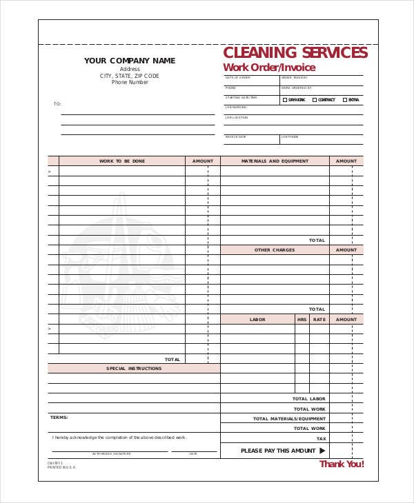 Cleaning Services Invoice Template 13 Cleaning Service Invoice Templates Pdf Word