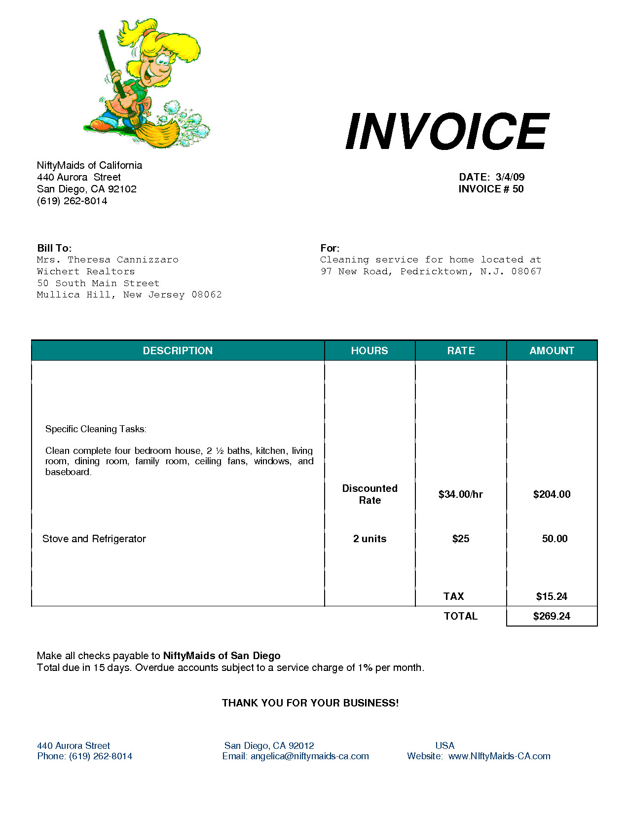 Cleaning Services Invoice Template Cleaning Invoice Template Uk