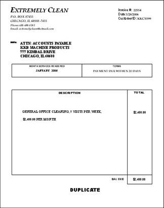 Cleaning Services Invoice Template Make Money Cleaning 101 Billing