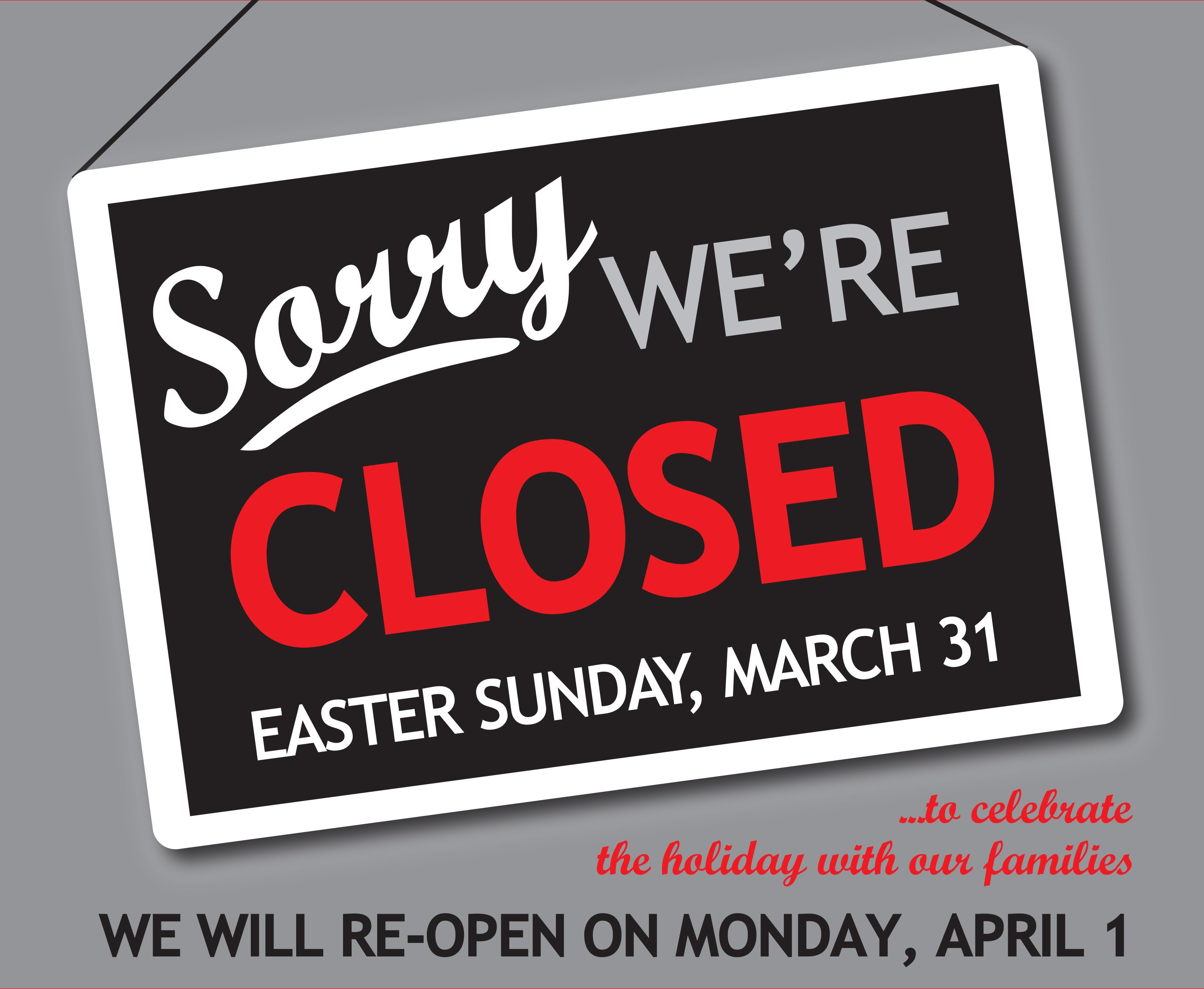 Closed Easter Sign Template Closed Easter Sign Templates – Hd Easter