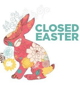 Closed Easter Sign Template Cosmosphere