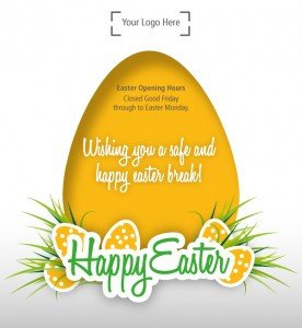 Do your customers know your opening hours over Easter