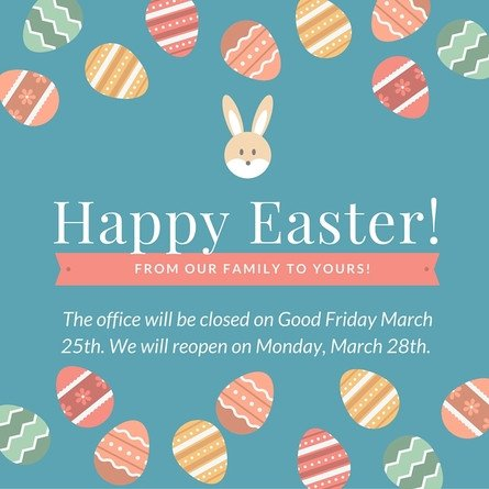 Closed Easter Sign Template Easter Fice Hours