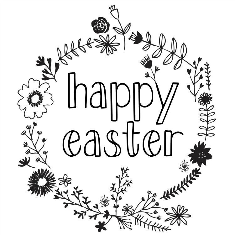 Closed Easter Sign Template Happy Easter Printable