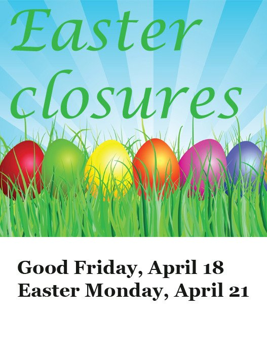 Closed Good Friday Sign Calendar Of Adult events