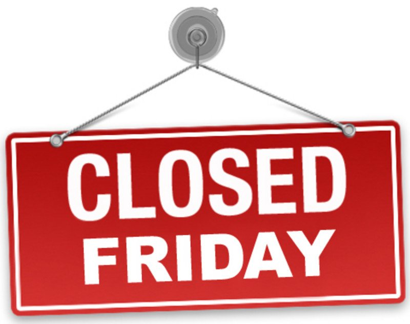 Closed Good Friday Sign Wia Office Closed Friday May 19