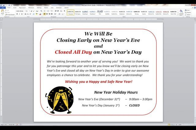 Closing Early Sign Template How to Post A Sign for the Observance Of A Holiday