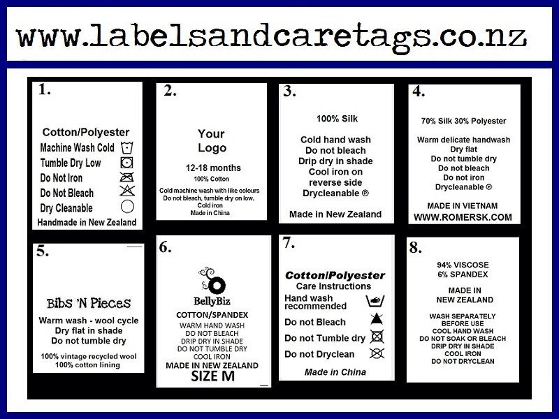 Clothing Care Label Template Clothing Care Labels X 100