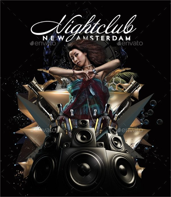 Club Flyer Background Templates 26 Club Flyer Templates Vector Eps Psd